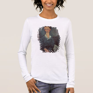 Portrait of a Woman with a White Collar (oil on ca Long Sleeve T-Shirt