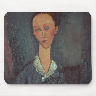 Portrait of a Woman with a White Collar (oil on ca Mouse Pad