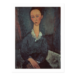 Portrait of a Woman with a White Collar (oil on ca Postcard
