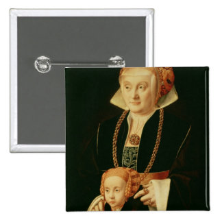 Portrait of a Woman with her Daughter 2 Inch Square Button