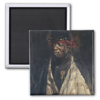 Portrait of a Wounded Soldier 2 Inch Square Magnet
