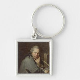 Portrait of a Writer, 1772 Keychain
