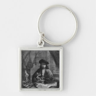 Portrait of a Young Artist, engraved by Keychain