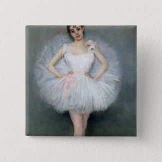 Portrait of a Young Ballerina Button