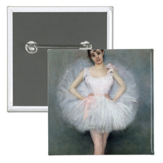 Portrait of a Young Ballerina 2 Inch Square Button