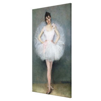 Portrait of a Young Ballerina Gallery Wrapped Canvas