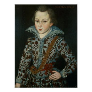 Portrait of a Young Boy, Aged Five Poster