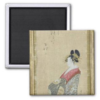 Portrait of a young courtesan magnet