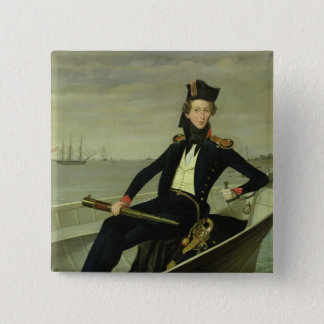 Portrait of a Young Danish Naval Officer, 1841 Button