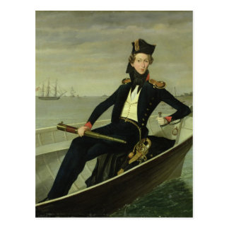 Portrait of a Young Danish Naval Officer, 1841 Postcard