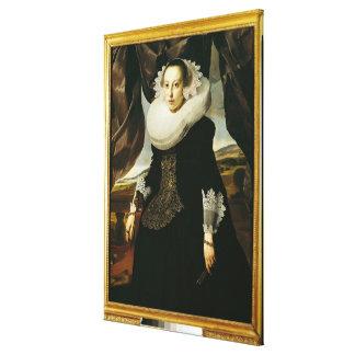 Portrait of a Young Dutch Woman Canvas Print