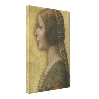 Portrait of a Young Fiancee by Leonardo da Vinci Canvas Prints