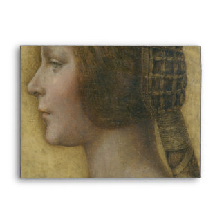 Portrait of a Young Fiancee by Leonardo da Vinci Envelope