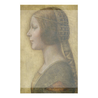 Portrait of a Young Fiancee by Leonardo da Vinci Flyer