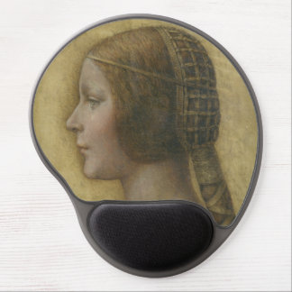 Portrait of a Young Fiancee by Leonardo da Vinci Gel Mouse Pad