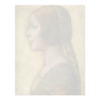 Portrait of a Young Fiancee by Leonardo da Vinci Letterhead