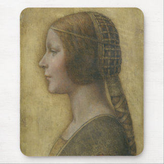 Portrait of a Young Fiancee by Leonardo da Vinci Mouse Pad