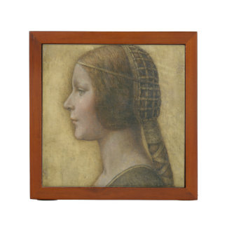 Portrait of a Young Fiancee by Leonardo da Vinci Pencil Holder