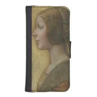 Portrait of a Young Fiancee by Leonardo da Vinci Phone Wallets