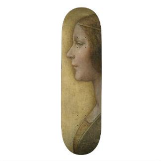 Portrait of a Young Fiancee by Leonardo da Vinci Skateboard Deck