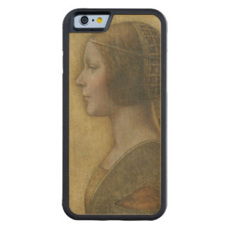 Portrait of a Young Fiancee by Leonardo da Vinci Carved® Maple iPhone 6 Bumper Case