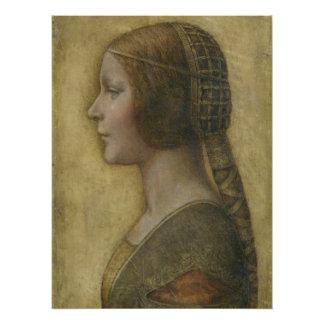 Portrait of a Young Fiancee by Leonardo da Vinci Perfect Poster