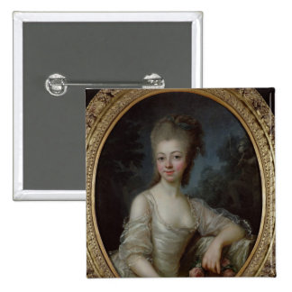 Portrait of a Young Girl, 1775 2 Inch Square Button