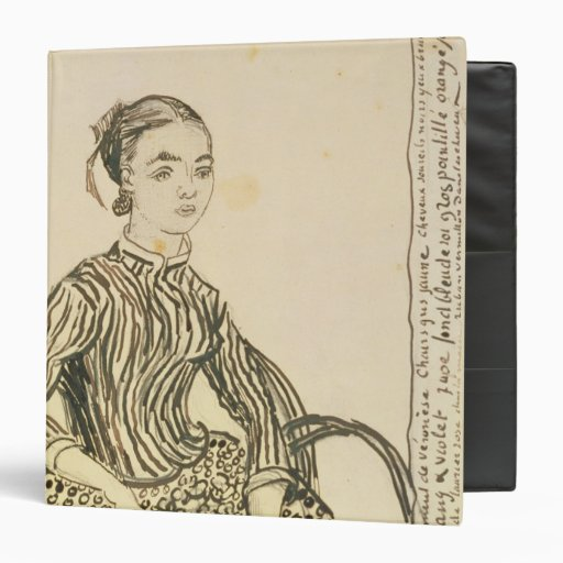 Portrait of a Young Girl, 1888 3 Ring Binders