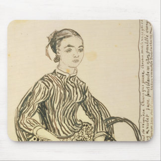 Portrait of a Young Girl, 1888 Mouse Pad