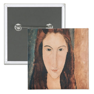 Portrait of a Young Girl 2 Inch Square Button