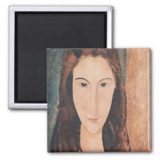 Portrait of a Young Girl 2 Inch Square Magnet