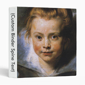 Portrait of a Young Girl 3 Ring Binder
