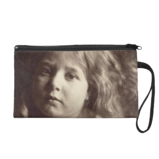 Portrait of a Young Girl (albumen print from a col Wristlet Clutches