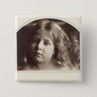 Portrait of a Young Girl (albumen print from a col Button