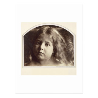 Portrait of a Young Girl (albumen print from a col Postcard