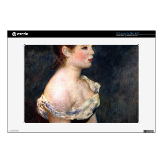 "Portrait of a young girl by Pierre Renoir Decals For 13"" Laptops"