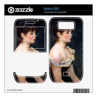 Portrait of a young girl by Pierre Renoir Skins For The Nokia E63