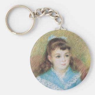 Portrait of a Young Girl Elizabeth Maitre Renoir Keychains