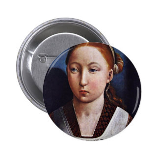 Portrait Of A Young Girl (Joanna The Mad?) By Flan Pinback Buttons