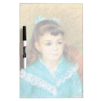 Portrait of a Young Girl Pierre Auguste Renoir art Dry Erase Board