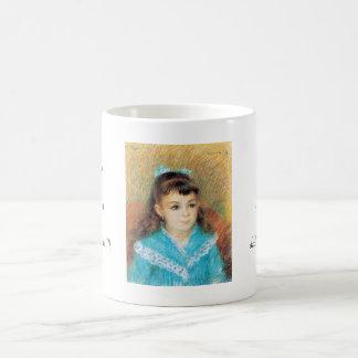 Portrait of a Young Girl Pierre Auguste Renoir art Coffee Mugs