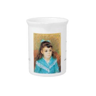 Portrait of a Young Girl Pierre Auguste Renoir art Pitcher