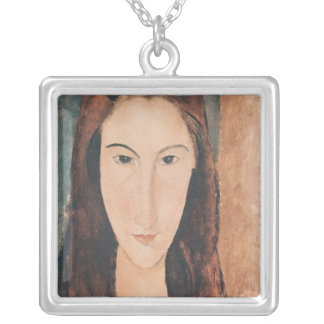 Portrait of a Young Girl Square Pendant Necklace