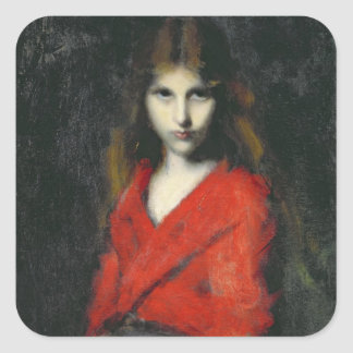 Portrait of a Young Girl, The Shiverer Square Sticker