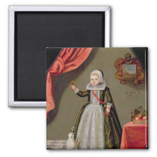 Portrait of a Young Girl with a Bird Magnet