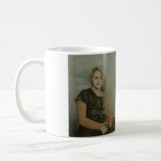 Portrait of a Young Girl with a White Flower Mug