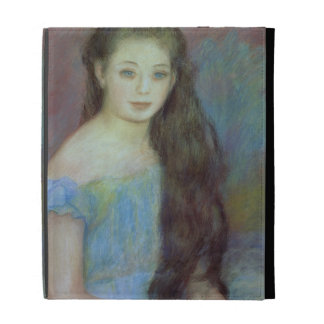 Portrait of a young girl with blue eyes, 1887 (pas iPad case