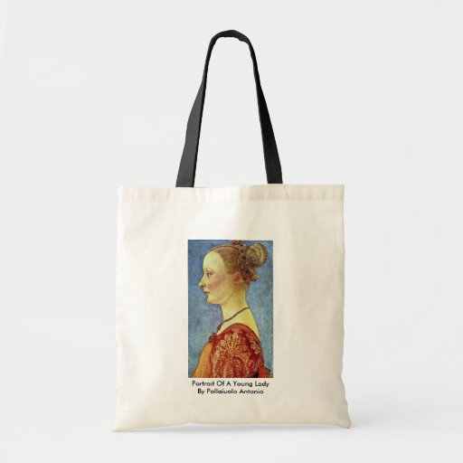 Portrait Of A Young Lady By Pollaiuolo Antonio Canvas Bag