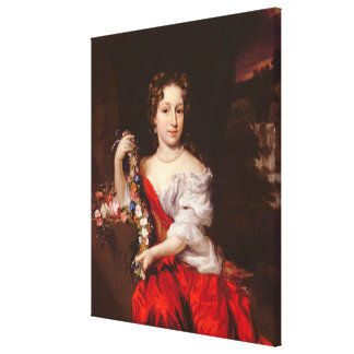 Portrait of a Young Lady (oil on canvas) Canvas Print