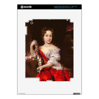 Portrait of a Young Lady (oil on canvas) Decal For iPad 3